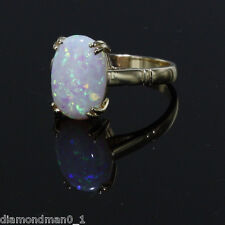 9ct Hallmarked Yellow Gold Opal Ring