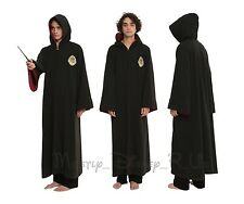 New Harry Potter Hooded Cosplay Cloak Hooded Robe S/M L/XL Mens Costume Play
