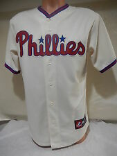 5618 Majestic PHILADELPHIA PHILLIES Sewn Baseball JERSEY CREME New BLOWOUT
