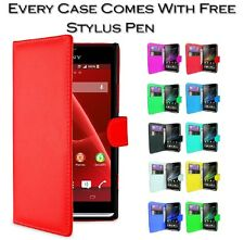 Magnetic Wallet Book Card Holder Pu Leather Case For Sony Xperia Z1 Compact Mini