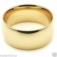 8mm Comfort Silk Fit Plain Wedding Band Ring Genuine 14K Yellow Gold