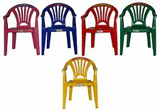 CHILDREN KIDS PLASTIC CHAIR STACKABLE PICNIC PARTY UP TO 60KG KID COLOURS