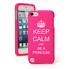 For Apple iPod Touch 4th 5th 6th Rubber Hard Case Cover Keep Calm Be A Princess