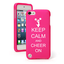 For Apple iPod Touch 4th 5th 6th Rubber Hard Case Cover Keep Calm Cheer On