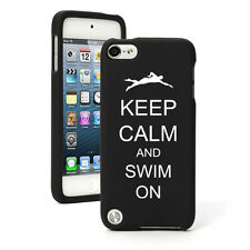 For Apple iPod Touch 4th 5th 6th Rubber Hard Case Keep Calm Swim On Swimmer