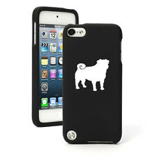 For Apple iPod Touch 4th 5th 6th Rubber Hard Case Cover Pug Dog