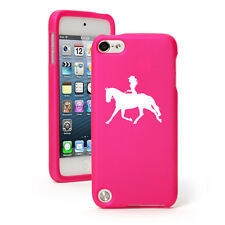 For Apple iPod Touch 4th 5th 6th Rubber Hard Case Cover Cowgirl Riding Horse