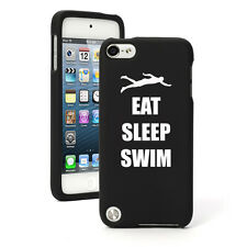 For Apple iPod Touch 4th 5th 6th Rubber Hard Case Cover Eat Sleep Swim Swimmer