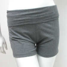 Women's Yoga Fold Over Waist Gym Spandex Sexy Shorts Cotton Fitness Grey S M L !