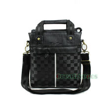 Men's Plaids Leather Crossbody Messenger Shoulder Briefcase Handbag Tote Bag New