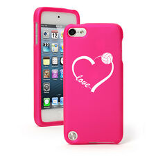 For Apple iPod Touch 4th 5th 6th Rubber Hard Case Cover Love Heart Volleyball