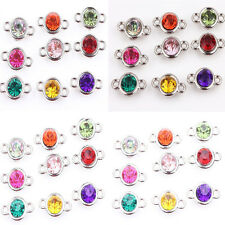 Wholesale 20/100pcs Crystal Glass Mixed Clear Czech Crystal Link Connector Beads
