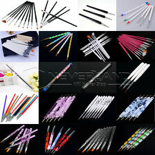 Pro Acrylic Nail Art Pen Brush UV Gel Painting Drawing Polish Builder Set Tool