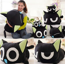 Newest super Q plush toy Luo black cat stuffed doll papa pillow birthday gift 1p