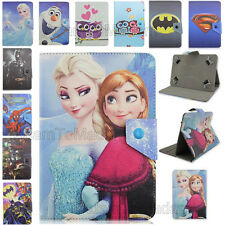 Cute Cartoon Super Hero Disney Frozen PU Leather Case Cover For LG G Pad Tablet