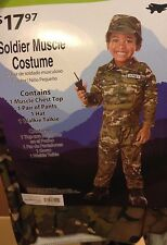 Military Soldier Muscle Toddler Costume 2T NEW