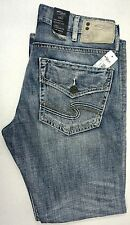 NWT $95 Silver ZAC Relaxed Fit M4401LD196 JEANS MENS NEW Distressed