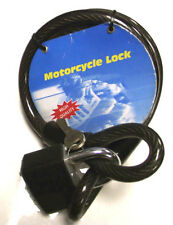 2 X Ultra Strong Braided Security Cable/Padlock-15mmX1500-Garage-Gate-Motorcycle