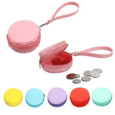 Cute Women Macaron Silicone Waterproof Coin Bag Pouch Women Purse Women Wallets