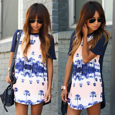 New Women Casual Floral Bpdycon Dress Evening Party Tops Mini Dresses