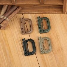 D-ring Spring Carabiner Shackle Safe Buckle Molle Backpack Locking Snap EDC Tool