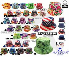 NEW Bucket Hat Design Reversible Hunting Fishing Outdoor Summer Unisex Cotton