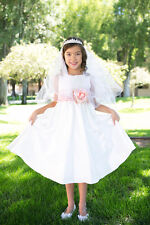 Customized Sash Flower Girl Dress Birthday Wedding Formal Pageant Dance Recital