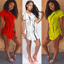 Sexy Womens Bandage Clubwear Cocktail Party Bodycon Short Sleeve Mini Dress