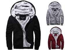 2015 NEW Men's Winter Sweatshirts Jackets Thick Velvet Hooded Zip Coats Hoodies
