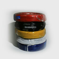 5m 14 16 18 20 22 24 AWG Silicone Wire cable Red Blue White Green Black Yellow