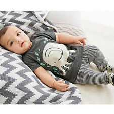 2PCS Kids Toddler Baby Boy Clothes T Shirt + Trousers Pants Outfit 2t 3t FT1650