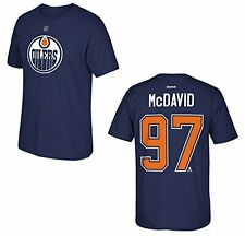 Edmonton Oilers Connor McDavid Blue Name and Number T-Shirt