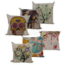 Square Throw Pillow Case Vintage Cotton Linen Cushion Cover Sofa Home Bed Decor