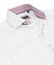 GUIDE LONDON SLIM FIT WHITE SHIRT WITH CONTRAST COLLAR BAND £70.00 NOW £39.00