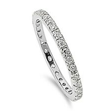 Sterling Silver Clear CZ Eternity Band