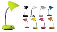 Lime Green Orange Pink Yellow Red Blue White Black Grey Flexi Desk Table Lamp
