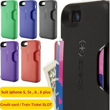 iphone 5s 6 6 plus case cover hard rubber with card slot