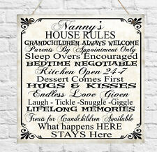 Personalised Plaque Family Rules Mum Nanny Grandma Grandad Mother's Day Gift