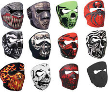NEOPRENE SKULL FULL FACE REVERSIBLE MOTORCYCLE MASK