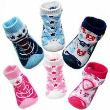 Baby Toddler Slipper First Shoes Socks Booties Non Slip Rubber Sole - ALL SIZES