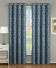 Blair Top Grommet Jacquard Window Curtain Panel 100% Polyester Set Of 2 Panels