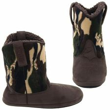 New Cowboy Kickers Brown Camouflage Slippers for Boys Montana Silversmiths