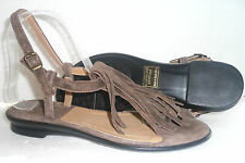 SOLE OF AFRICA BY CLARKS  AFRICAN PALM BROWN SUEDE SANDALS SHOES UK SIZE 5 D