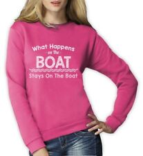 What Happens On The Boat Stays On The Boat - Funny Women Sweatshirt Sailing