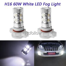 H16 60W LED White High Power Bright Car DRL Daytime Running Fog Light Lamp Bulb