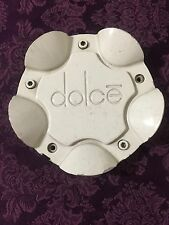 1 Dolce Wheels White Pop-In Center Cap Part# BC-636  Stock# 1126