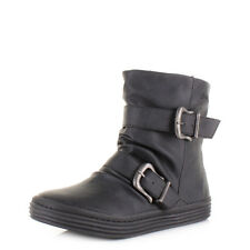 Womens Ladies Blowfish Octave Black Texas Comfort Flat Casual Ankle Boot Size