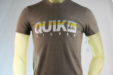"QUIKSILVER ""EXTRA EXTRA"" BROWN GRAPHIC T-SHIRT Size Small/Medium/Large"
