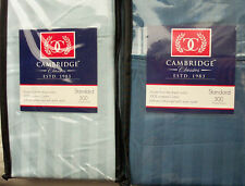 New Blue 100% Cotton Damask Stripe Pillow Cases Standard 300 Thread Count NWT