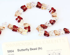 Genuine SWAROVSKI 5954 Butterfly Crystal Beads 14mm Large Hole * Many Colors